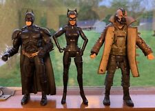 Mattel DC Movie Masters The Dark Knight Rises - Batman Catwoman Bane Figures 6""