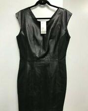 H&M Black Leather Dress - UK 18 / EU 44 NEW