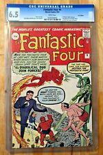 FANTASTIC FOUR # 6 Marvel Comic CGC 6.5 Dr Doom Sub-Mariner 1st Villain Team Up
