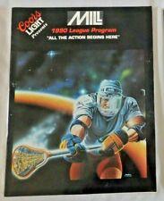 1990 MILL Lacrosse League Game Program yearbook