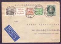 Berlin 1951 - Schöne Mischfrankatur auf Luftpostbrief mit Zusammendruck S2 (840)
