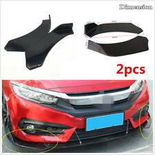 2x Universal Black Car Front Bumper Protector Guard Lip Body Kit Spoiler Splitte