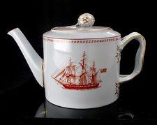 Spode Trade Winds Red Tea Pot Gold Trim