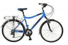 "New Falcon Mens Navigator Hybrid Bike Blue 19"" Frame 21 Speed Shimano EZ Fire"
