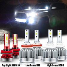 For Toyota 4Runner 2010-2020 LED Headlight Bulbs Kit High/low Beam + Fog Light