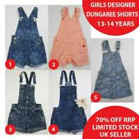Girls Denim Dungaree Shorts Dungarees 13-14 Years Brand New 50% OFF(DS13-14)