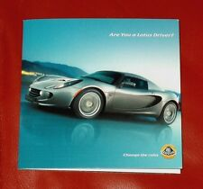 2005 LOTUS ELISE & EXIGE USA - Original 6-page Mailing Folder and 20+ minute DVD