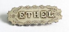 A VICTORIAN LONDON HALLMARKED SILVER NAME BROOCH - ETHEL