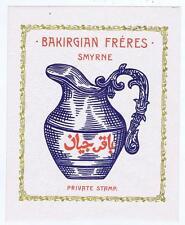 cotton spool fabric label 1930's Bakirgian Freres Smyrne Turkey