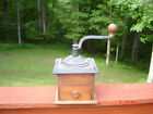 Antique Hand Crank Box Mill Cast Iron Coffee Grinder