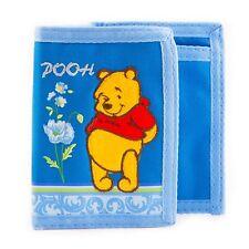 Disney Winnie the Pooh Wallet Tri-Fold Blue Hook Snap Closure Tigger's Friend
