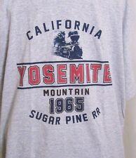 Sugar Pine RR T-Shirt Yosemite Mountain California 1965 Railroad Lg 40 Chest New