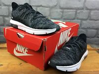 NIKE UK 1 EU 33 AIR MAX SEQUENT 3 GREY BLACK WHITE TRAINERS BOYS RRP £55 M