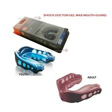 New Shock Doctor Gel Max Mouthguard for Taekwondo Karate Martial Arts-STRAPLESS