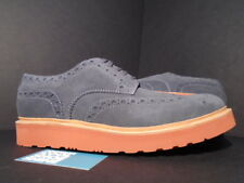 GRENSON ARCHIE SUEDE GREY RUST BROWN WINGTIP 5067/859R NEW 12