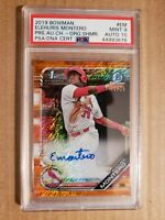 ELEHURIS MONTERO 2019 Bowman Chrome Auto Orange Shimmer Refractor /25 PSA 9/10