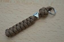 Paracord Lanyard/ Keyring for Multi Tool, Knife etc (COYOTE BROWN) TB