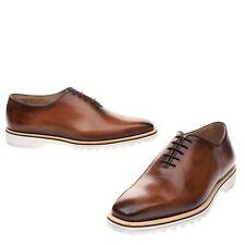 RRP €1060 BERLUTI Leather Oxford Shoes Size IT40.5 EU41.5 UK7.5 US8.5 Burnished