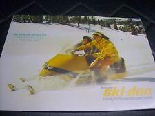 1967 Vintage Bombardier SKI DOO Snowmobile Brochure