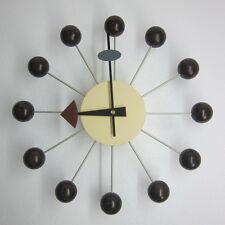 Classic Retro Design Natural Wood Ball Wall Clock George Nelson Walnut Replica