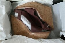 WOMEN'S SIZE 10B, LEATHER UPPER, LIGHT BROWN, WEDGE SHOES BY ELIZABETH AND JAMES