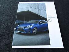2016 Lexus IS200t IS300 IS350 Brochure IS F Sport 200t 300 350 US Sales Catalog