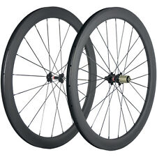 Carbon Fiber Road Bike Wheels 700C Clincher Wheelset 50mm Matte 25mm U Width