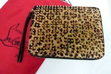 Christian Louboutin Cris Case Pony Leopard Luxor/Spikes Tablet Case I-8510