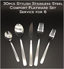 30pcs New Modern, Stylish & Classic Stainless Steel Flatware Set for 6