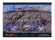F1 1998 Grand Prix Drivers autographs, signed photo