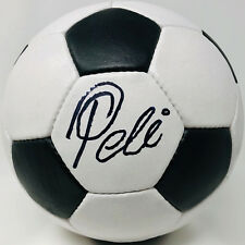 Pele Signed Soccer Ball Autographed Black and White - PSA/DNA ITP COA