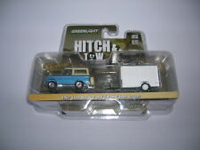 Greenlight 1967 Ford Bronco + Small Cargo Trailer Car Trailer Hitch&tow 1:64
