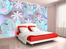 Photo Wallpaper Colorful 3d Flower GIANT WALL DECOR PAPER POSTER FOR BEDROOM
