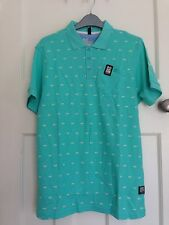 Men's Crosshatch 100% Cotton Green Short Sleeve Polo Shirt Size M