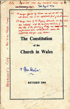 REVISING THE CONSTITUTION OF THE CHURCH IN WALES - ARCHBISHOP'S OWN COPY (1970)