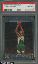"""2007-08 Topps Chrome #131 Kevin Durant RC Rookie PSA 10 GEM MINT """" Flawless """""""