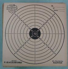 environ 180 Cibles anciennes de tir en carton Armes F. Kaczoroski, Nantes