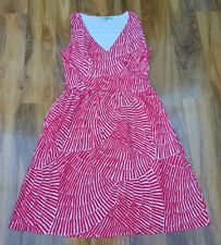 Boden Ladies Red White Print Pretty Ruched Wrap Dress Size 14L BRAND NEW WW062