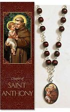 St. Anthony Chaplet (PS352) (rosary) NEW 17 Inches Long