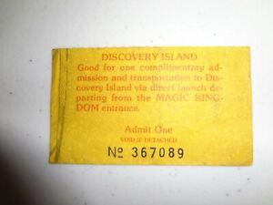 WALT DISNEY WORLD COLLECTIBLES DISCOVERY ISLAND TICKET PARADE COINS MICRO POPZ