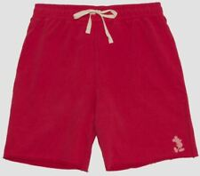 Disney Junk Food Men's Mickey Mouse French Terry Jogger Shorts Red - Choose Size