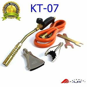 NEW HEATING TORCH SET PROPANE GAS BLOW PLUMBER ROOFING SOLDERING KT-07