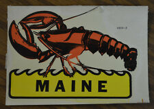 ORIGINAL VINTAGE TRAVEL DECAL MAINE LOBSTER EAST COAST FISHING HOT ROD BOAT RV