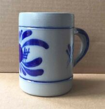 Fait Main Pottery Stein Blue & Grey Stoneware 5 Inch Mug Uchi