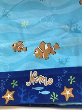 Disney Finding Nemo Twin Flat Sheet Orange White Clown Fish Underwater