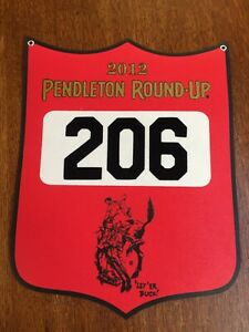 Pendleton Round-Up Rodeo 2012 Contestant Back Number