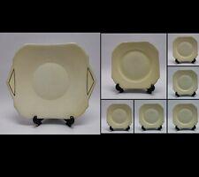 Shelley China 12990 / 51 ivory / lemon with gold trim Cake Plate & 6 Side Plates