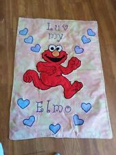 "ELMO BABY/TODDLER CRIB QUILT/COMFORTER REVERSIBLE ""LUV MY ELMO"" 30"" X 42"""