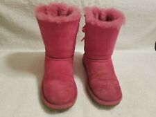 Pink UGG Boots Bailey Bow Girls Winter Shoes Uggs Size 3