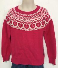 GAP Kids Girl's Pink Fair Isle Sweater Long Sleeve Size XS 4-5 Yrs NWT
